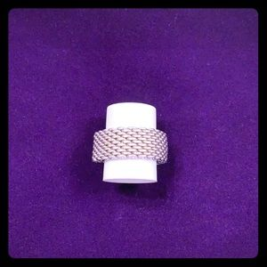 Tiffany's and co silver mesh ring. Beautiful!